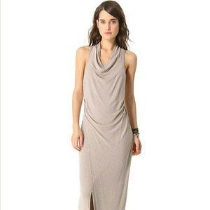 HEATHER Cowl Maxi Side Slit anthropologie Dress